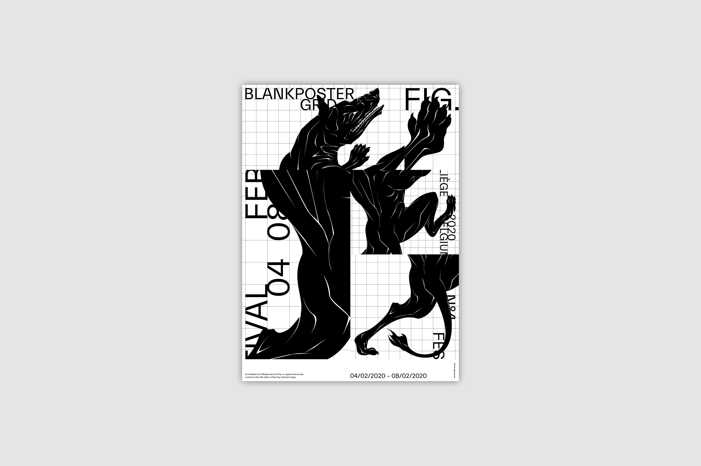 Poster for Blankposter by Adrien Jacquemet